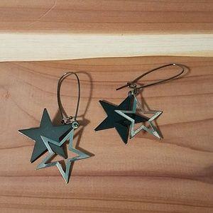 Punk rock star earrings